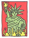 Haring STATUE OF LIBERTY