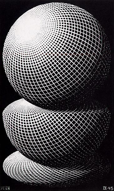 Escher THREE SPHERES I