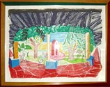 Hockney VIEW OF HOTEL WELL I