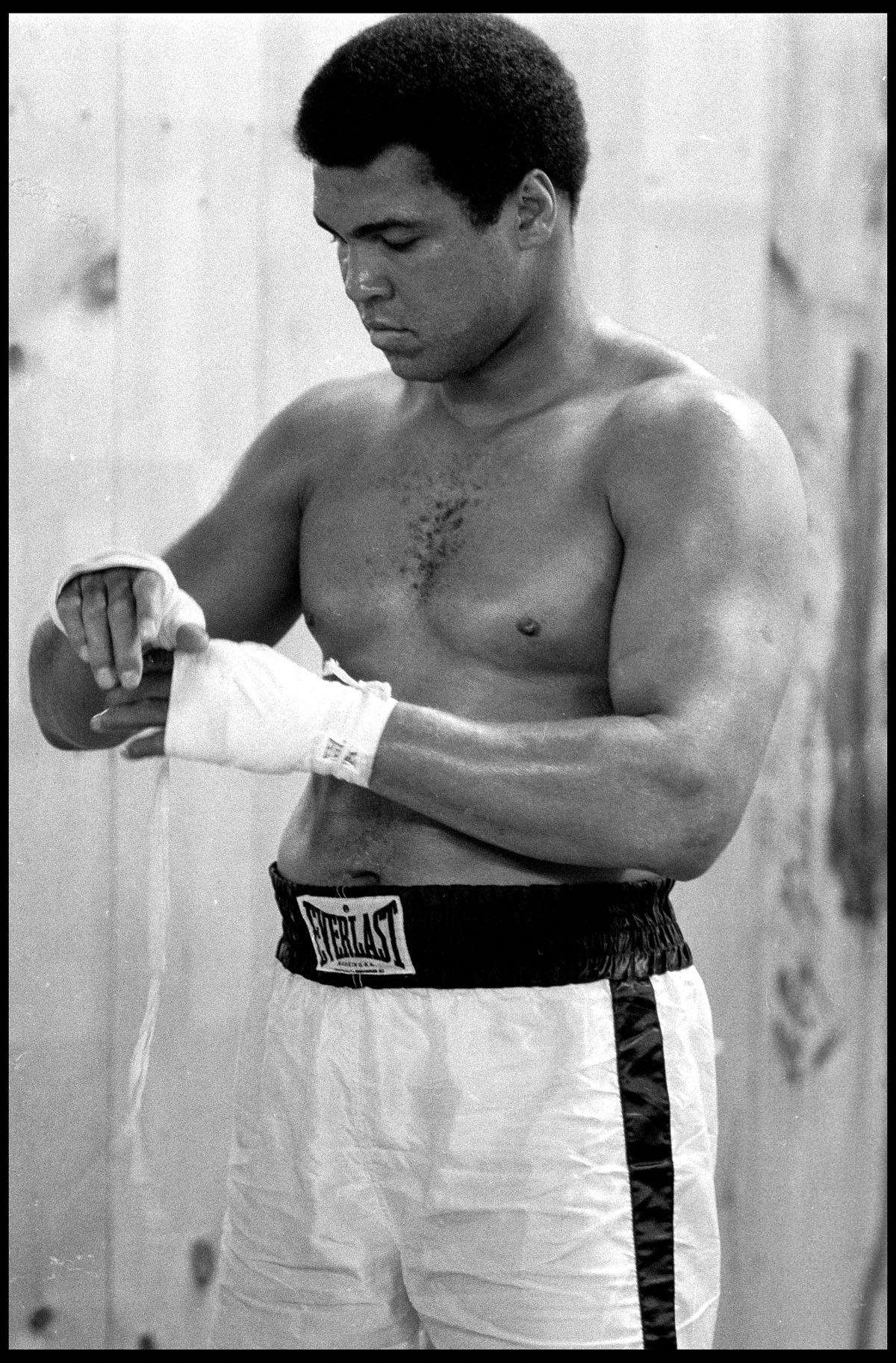 Muhammad Ali Training at the 5th Street Gym, Miami Beach