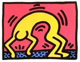 Haring UNTITLED #2 FROM POP SHOP II