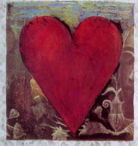 Dine HAND COLORED VIENNESE HEART (#I)